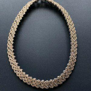 Swarovski Diamanta Pavé Bridal Necklace Bling